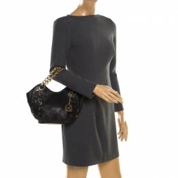 MICAHEL Michael Kors Black Leather Chain Shoulder Bag MICHAEL Michael Kors