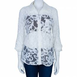 Diane Von Furstenberg Lorelei Two White Lace Top M 45549
