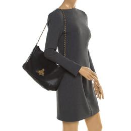 Mulberry Black Leather Large Margaret Shoulder Bag 194720