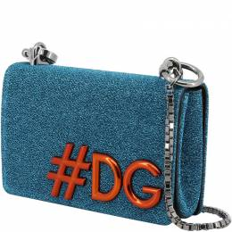 Dolce&Gabbana Blue Synthetic Fabric DG Girls Chain Evening Bag 199271