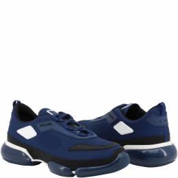 Prada Blue Knit Mesh Fabric Cloudbust Slip-On Sneakers Size 41