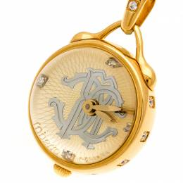 Roberto Cavalli Gold Plated Stainless Steel Miriam R7259148517 Pendant Watch 27 mm