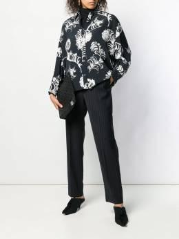 Loewe - расклешенная рубашка с цветочным принтом 99036GA9595935300000