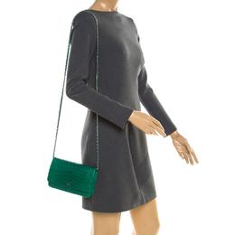 Chanel Green Alligator WOC Clutch Bag
