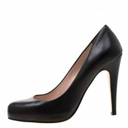 Miu Miu Black Leather Pumps Size 37.5