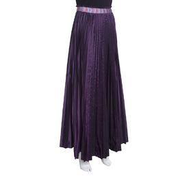 M Missoni Purple Accordion Pleated Midi Skirt S
