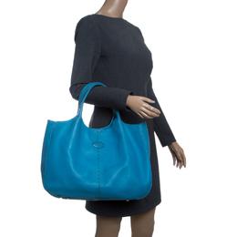 Tod's Blue Leather Shoulder Bag Tod's