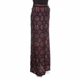 M Missoni Multicolor Striped Knit Chevron Pattern Maxi Skirt M 141602
