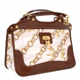 Louis Vuitton White Monogram Charms Limited Edition Cabas Bag 99071