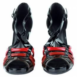 Bottega Veneta Tricolor Patent Leather Cutout Wedge Sandals Size 36 78175