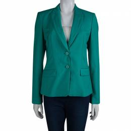 Boss by Hugo Boss Turquoise Wool Jaelle Blazer S
