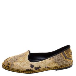 Etro Beige Brocade Loafers Size 36.5 120974