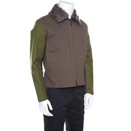 Missoni X Hancock Colorbock Cotton Faux Fur Collar Handmade Jacket M 158819