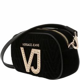 Versace Jeans Black Signature Fabric Crossbody Bag 161970