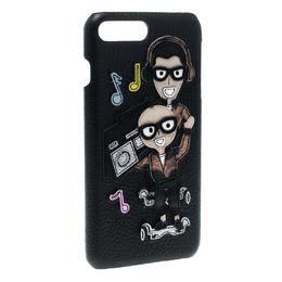 Dolce&Gabbana Black Leather Musical IPhone 7 Plus Case 163699