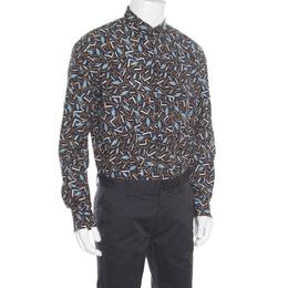 Salvatore Ferragamo Multicolor Cactus Printed Cotton Long Sleeve Shirt XL 163773