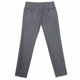 Louis Vuitton Grey Wool Slim Fit Tailored Trousers XXL