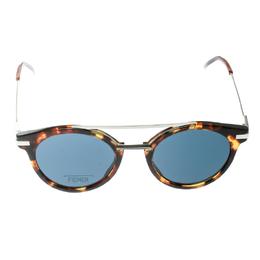 Fendi Havana Brown/ Grey FF 0225/S Round Sunglasses 174587