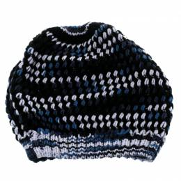 Missoni Multicolor Chunky Knit Cashmere and Wool Beanie