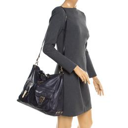 Mulberry Navy Blue Leather Tillie Top Handle Bag 234989