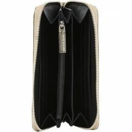 Versace Jeans Metallic Faux Embossed Leather Zip Around Wallet 181682
