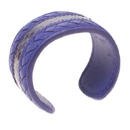 Bottega Veneta Purple Nappa Intrecciato Ayers Open Cuff Bracelet S