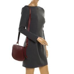 Diane Von Furstenberg Red Leather Crossbody Bag 192732