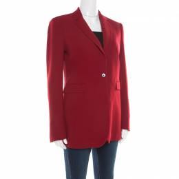 Joseph Maroon Crepe Stretch Laurent Blazer M