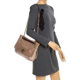 Lanvin Bronze Metallic Leather Happy Shoulder Bag 197081