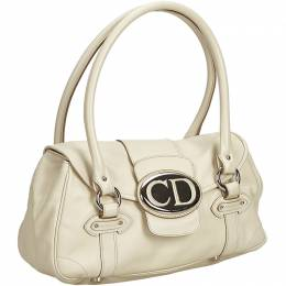Dior White Leather Everyday Bag 193359
