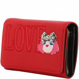 Love Moschino Red Faux Leather WOC Clutch Bag