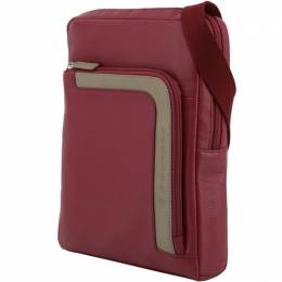 Piquadro Red Leather Messenger Bag 196820