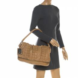 Dolce&Gabbana Brown Leather Miss Lexington Shoulder Bag 198830