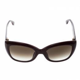 Fendi Burgundy/Brown Gradient FF0019/S Cat Eye Sunglasses 148298