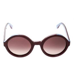 Fendi Bicolor/Brown Gradient FF 0120/S Round Sunglasses 176980