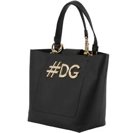Dolce&Gabbana Black Leather DG Girls Tote 199254