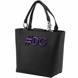 Dolce&Gabbana Black Leather DG Girls Tote 199255