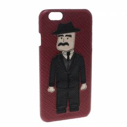 Dolce&Gabbana Red Leather Sicilian Man Patch iPhone 7 Case 150858