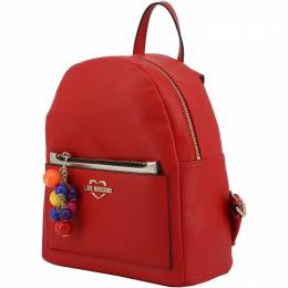 Love Moschino Red Faux Leather Backpack