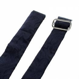 Lanvin Navy Blue Silk Jacquard Cummerbund 146206