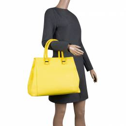 Victoria Beckham Yellow Leather Quincy Tote 131732