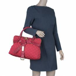 Marc Jacobs Red Quilted Jersey Bruna Bow Satchel 8041