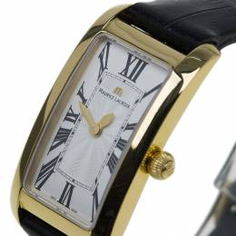 Maurice Lacroix Cream Gold-Plated Fiaba Women's Wristwatch 20MM 42575