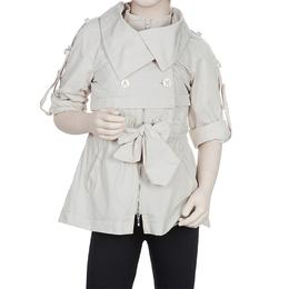 Scervino Street Girls Beige Trench Coat 6 Yrs Ermanno Scervino 56005