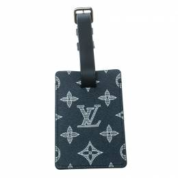 Louis Vuitton Blue Monogram Savane Canvas and Leather Chapman Brothers Luggage Tag 170421