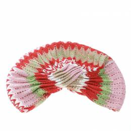 Missoni Mare Multicolor Perforated Patterned Lurex Knit Turban 171685