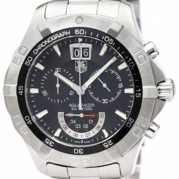 Tag Heuer Black Stainless Steel Aquaracer Grande Date Men's Wristwatch 44MM 187074