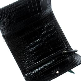 Montblanc Black Croc Embossed La Vie De Boheme Wallet 192882