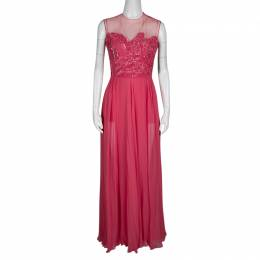 Elie Saab Begonia Embellished Silk Sleeveless Gown S 138403