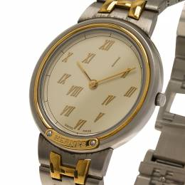 Hermes Cream Gold-Plated Stainless Steel Classic Women's Wristwatch 33MM 60248
